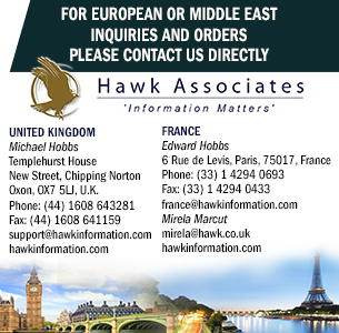 Hawk provides European support to the entire range of market intelligence services from Forecast International  				and has exclusively represented the world's leading forecast and analysis company over the last two decades in Europe.